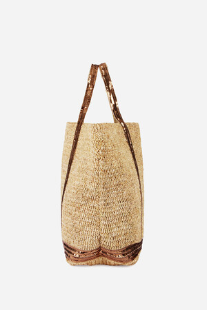 Large Raffia Cabas Tote Bag