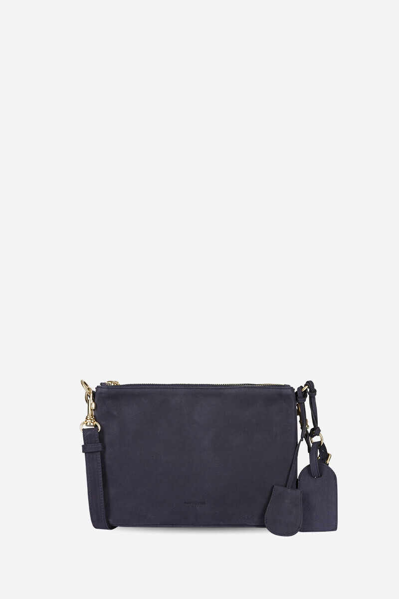 Small Calfskin Leather 2-Zip Lune Bag Black/NIGHT/STEEL/Thyme/COGNAC alt_par_VB