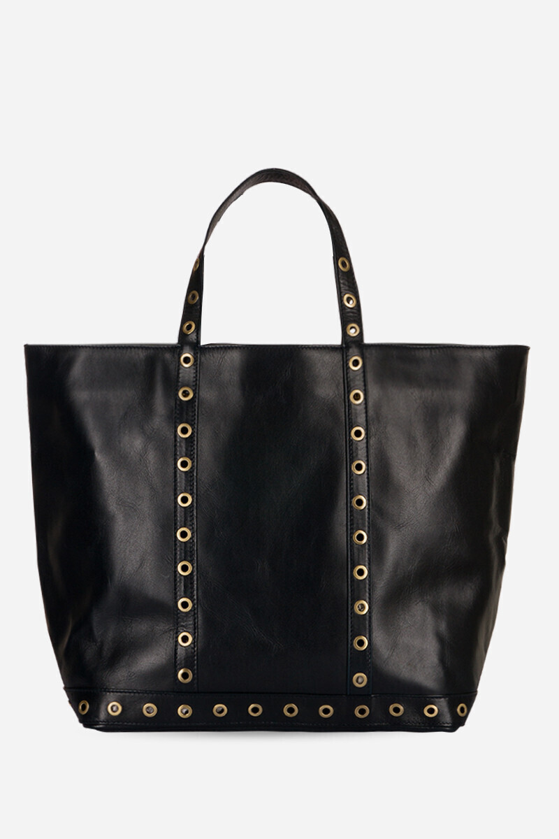 Medium + Leather Cabas Tote Bag with Eyelets Dark Blue alt_par_VB