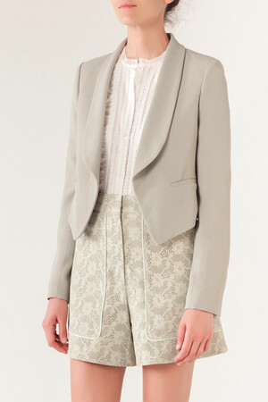 Light satin-backed crepe Itchiko Jacket