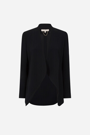 Light satin-backed crepe Anastasia Jacket