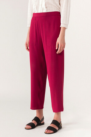 Light satin-backed crepe Galien trousers