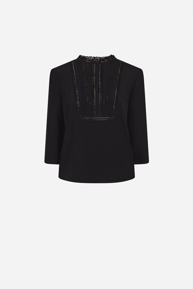 Silk Iskan Blouse Black/Powder/BLACKCURRANT alt_par_VB