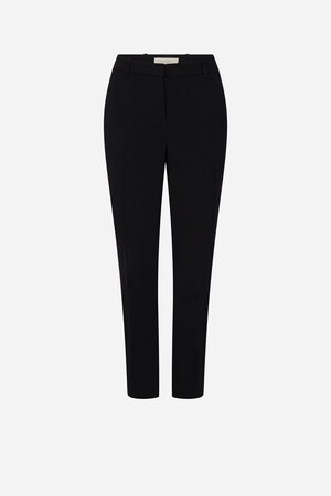 Light satin-backed crepe Moustique trouser