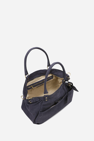 Nubuck Leather Lune Bag