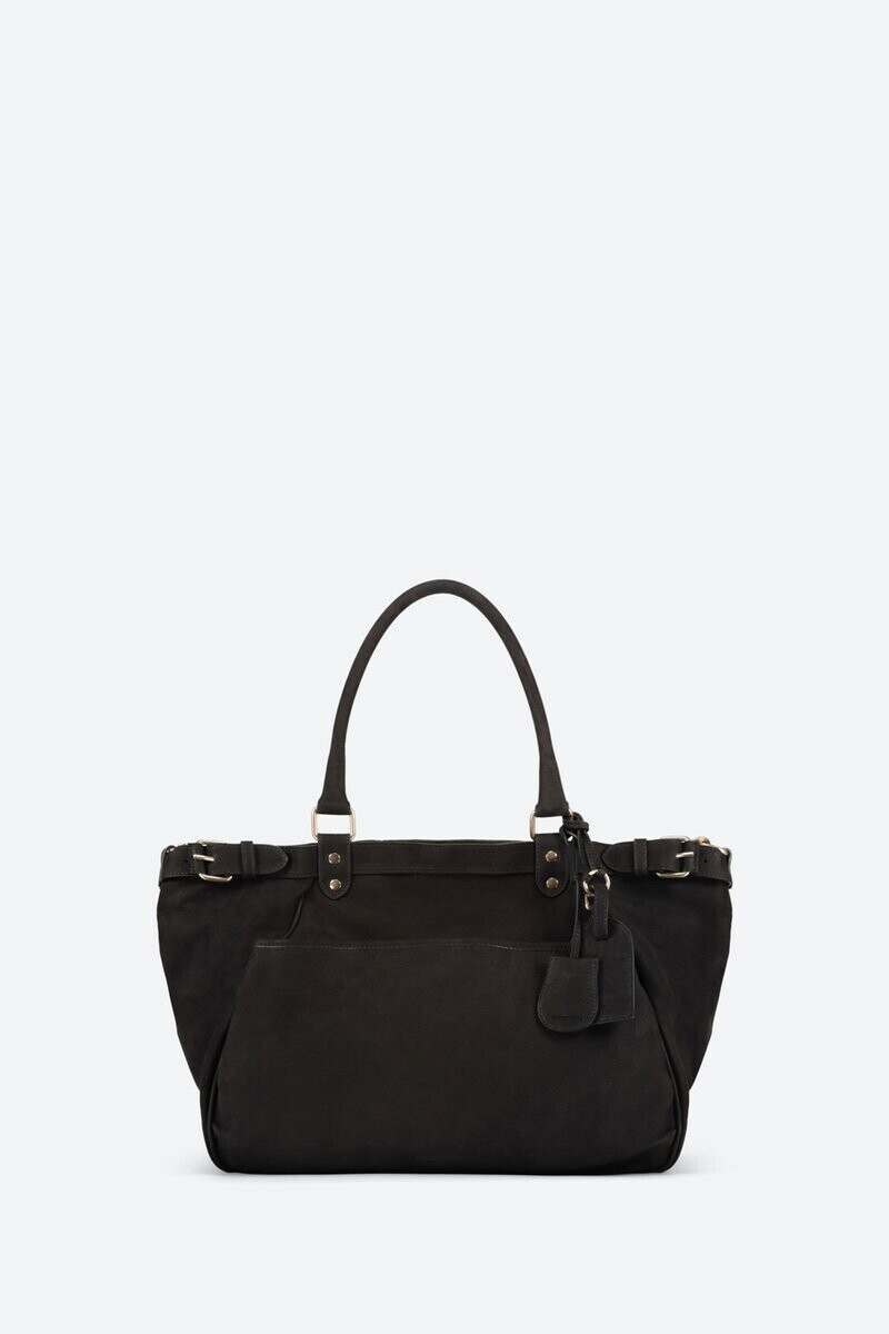 Nubuck Leather Lune Bag Black alt_par_VB