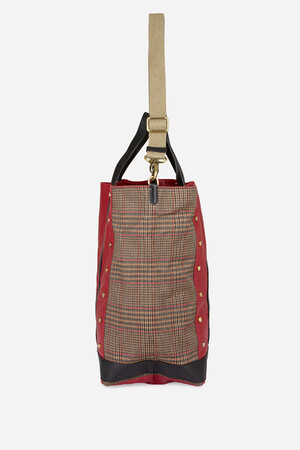 Large Waxed Linen Cabas Tote Bag