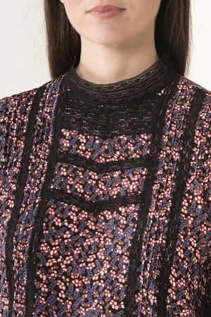 Silk blueberry printed Joie blouse