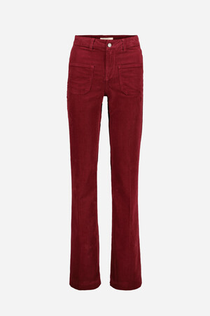 Pinstriped Velvet Dompay flare trousers