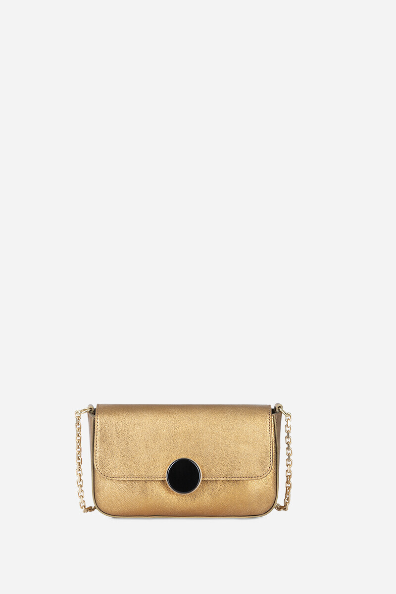 Metallic Leather Moon Flap Bag BRONZE alt_par_VB