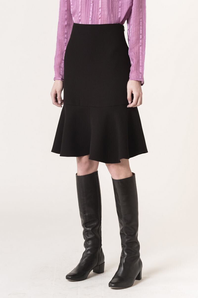 Crepe Juline skirt Black alt_par_VB