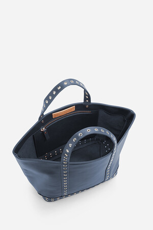 Medium Leather Cabas Tote Bag With Eyelets
