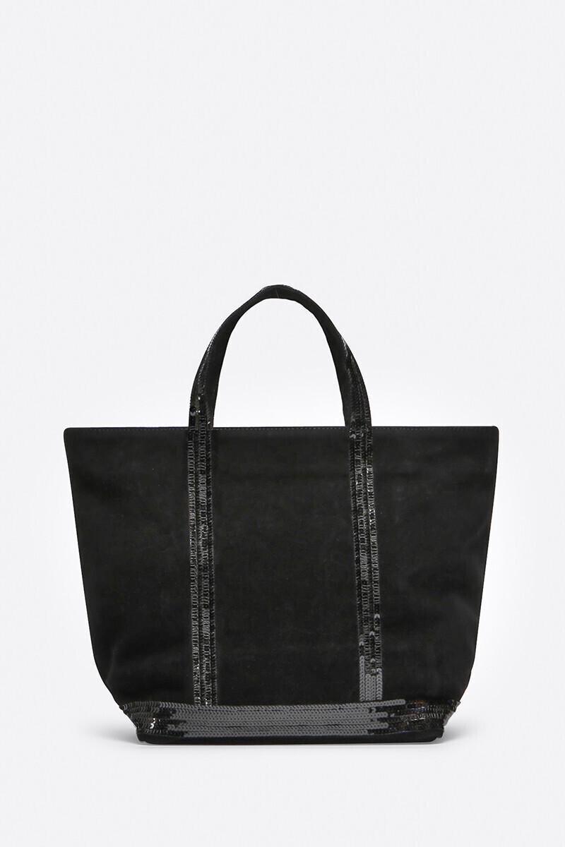Medium Velvet Leather And Sequins Cabas Tote Bag Black/Ginger/DENIM/SEAWEED alt_par_VB