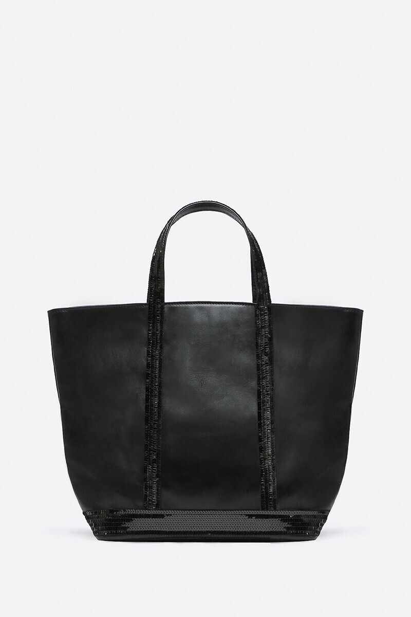 Medium Leather And Sequins Cabas Tote Bag Black/DRAGEE/NIGHT/ANTELOPE alt_par_VB