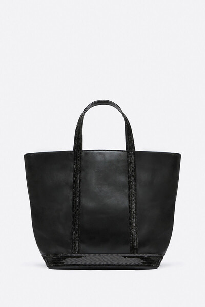 Medium Leather And Sequins Cabas Tote Bag Vanessa Bruno
