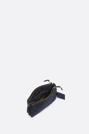 Small Calfskin Leather 2-Zip Lune Bag