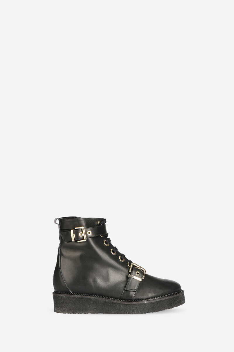 Calfskin leather crepe boots Black alt_par_VB