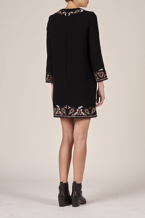 Double embroidered crepe Heaven dress