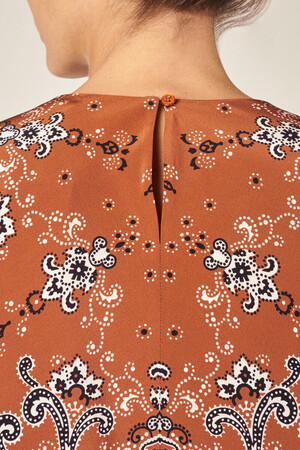 Silk Helier blouse printed