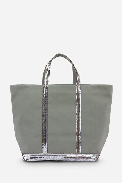 Medium + Canvas And Sequins Cabas Tote Bag
