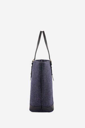 Medium + Tweed Cabas Tote Bag With Ajustable Smooth Handles
