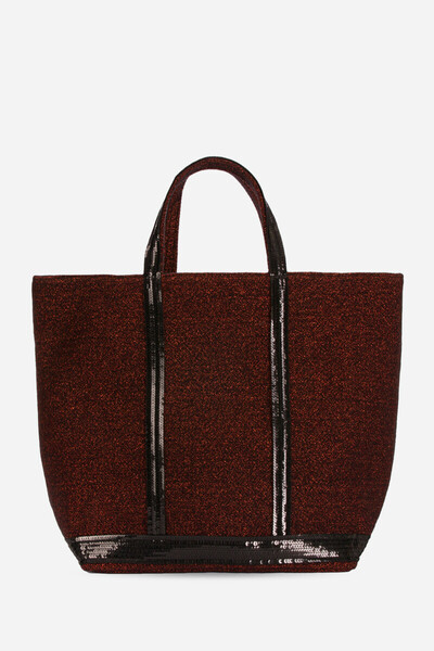 Tweed + Canvas And Sequins Cabas Tote Bag