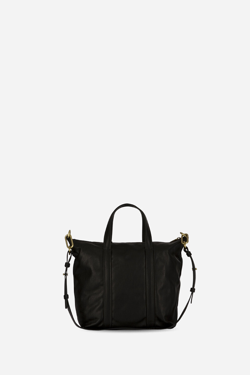 Zippy Cabas Tote Bag with Strap Black/BURGUNDY alt_par_VB